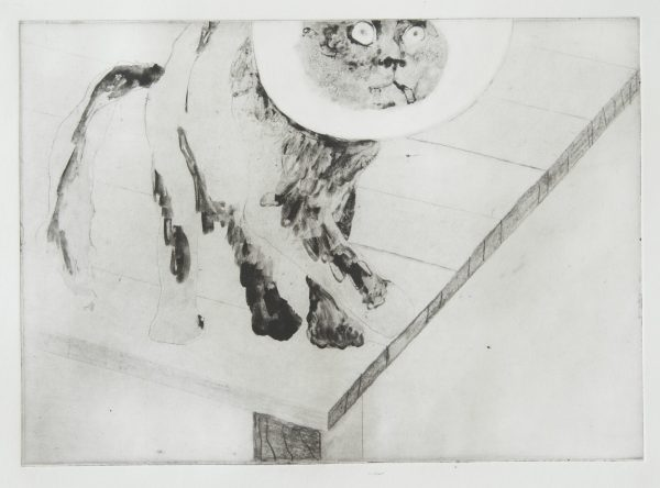 Sjoerd Tegelaers, You cant change without moving your shadow, 2013, photopolimer etching, a4 size, 10prints, Blooz Gallery